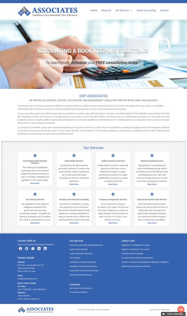DXP Associates Website