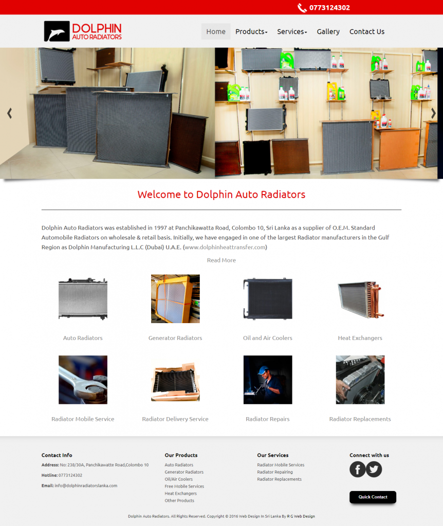 dolphin auto radiators website