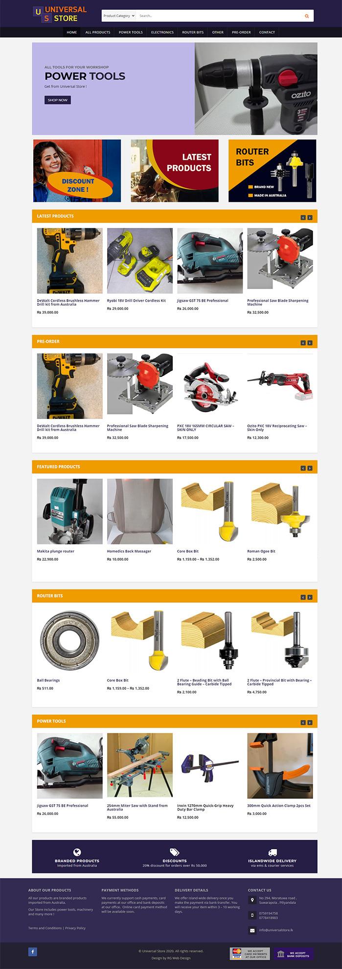 universalstore-website-store-by-rg-webdesign-sri-lanka